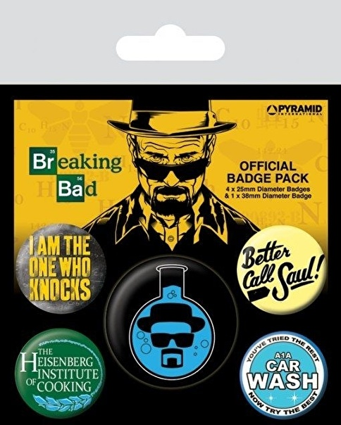 Pyramid International Rozet Seti - Breaking Bad Heisenberg Flask BP80490 Renkli
